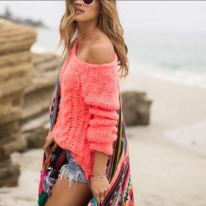 Free People Hottie Tottie Cable Knit Sweater
